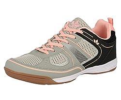 Lico Damen Recent Multisport Indoor Schuhe, Grau/Rosa, 39 EU