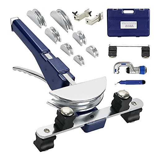 Rohrbieger Rohrbiegemaschine Handrohrbieger Satz 6-22mm Rohrbiegegerät bis 90° + Rohrschneider