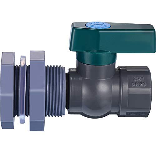 Mudder PVC Spigot Rain Barre Faucet Kit 3/4 Inch Rain Barrel Valve with Bulkhead Fitting Adapter for Water Tanks, Aquariums, Tubs, Pools