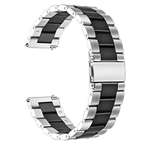 Saisiyiky Correa de Reloj Metalica Ajustable Band Compatible con ...
