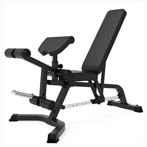 LYYJIAJU Hantelbank Faltbare Home Fitness-Stuhl Einstellbare Gewicht Bank mit Hanteln Innenhantelbank Bauch-Übung Bank Bauchtrainingsbank for Bauchmuskelübungen Dedicated Gym