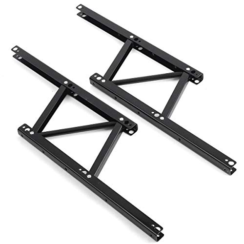 uyoyous 1 Pair Folding Lift up Top Coffee Table Lifting Frame Desk Mechanism Hardware Spring Hinges for Convertible Furniture Hardware Lifting Rack Shelf Standing Rack Bracket ,Black