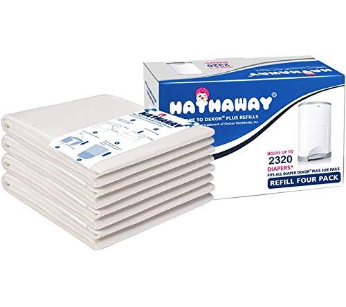 Sacchetti usa e getta per pannolini Korbell Plus da 26 l, per pannolini e pannolini, 4 confezioni per contenere fino a 2320 pannolini.