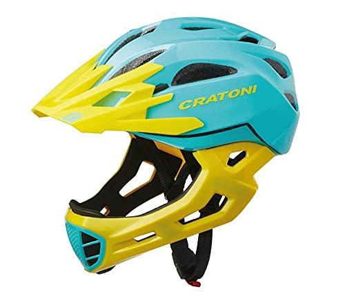 289165var - Casco Bicicleta Ciclismo c-Maniac Freeride Color TUR/AMA Talla 54-58