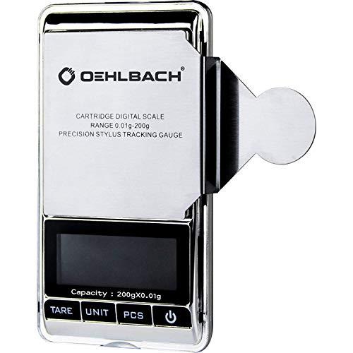 OEHLBACH Tracking Force - Báscula Digital de precisión (0,01 g) para fonocaptor/Brazo de Sonido (Frontal de Acero Inoxidable)