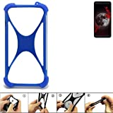 K-S-Trade® Handyhülle Für Sharp Aquos B10 Silikon Schutz Hülle Cover Case Bumper Silikoncase TPU Softcase Schutzhülle Smartphone Stoßschutz, Blau (1x),