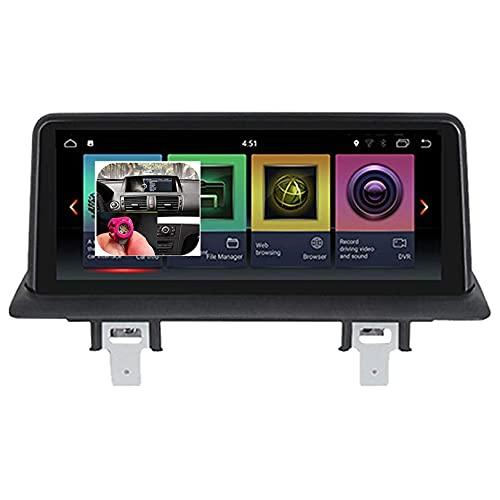 Para BMW 1 Series E81 E82 E87 E88 2005-2012 Android 9.0 Unidad principal de navegación GPS Pantalla táctil IPS de 10.25 pulgadas Radio estéreo para automóvil Navegador por satélite Cámara de marcha at