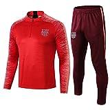 L-YIN La mitad de tracción Jersey Suit Football Club Training deportes al aire libre de los hombres (Tops + Pants) -A0189 Chándales (Color : Red, Size : M)