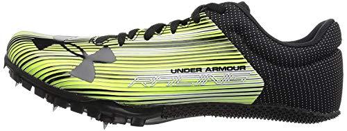 Under Armour Men's Kick Sprint Spike Running Shoe, High-Vis Yellow (300)/White, 9.5