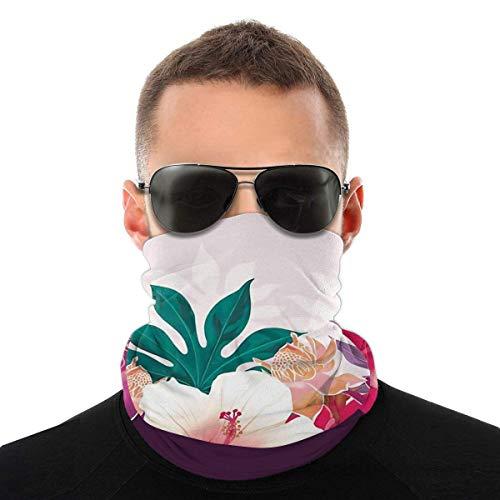 SVDziAeo Nasculi Hibiscus Eisbecher Sorbet Staubdicht Winddicht Gesicht Bandana Schutz Sorte Kopftuch Unisex