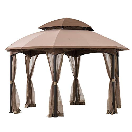 Sunjoy Louisiana 13.5x13.5 ft. Steel Gazebo