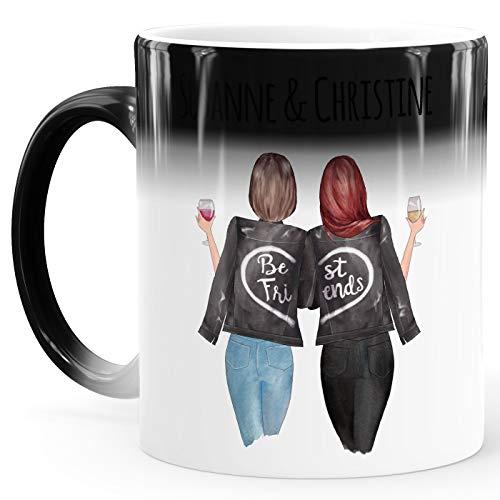 SpecialMe® Tasse beste Freundin personalisiert BFF Geschenke Freundschaft Best Friends Zaubertasse 2 Seiten weiß Magic-Tasse