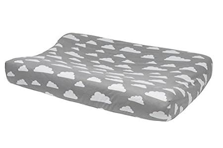 Meyco 516095–Cubierta para cambiador –Nube de 2 cuñas, gris