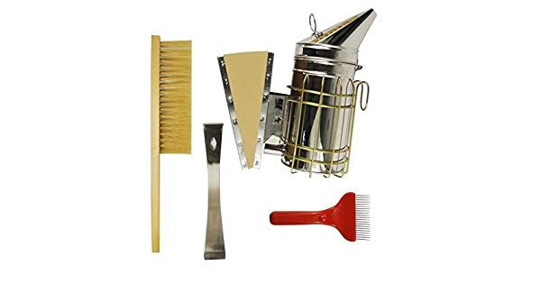 Honey Uncapping Fork Bee Hive Scraper Teeth Comb Scratcher Stainless Steel