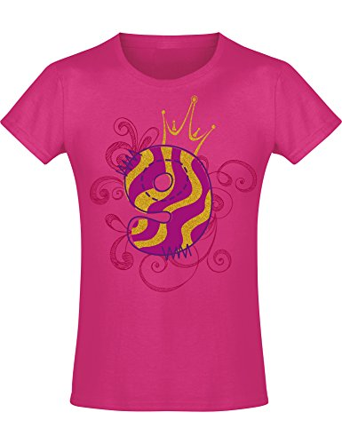 Camiseta de Cumpleaños - 9 Años con Corona y Brillo - Año 2011 - T-