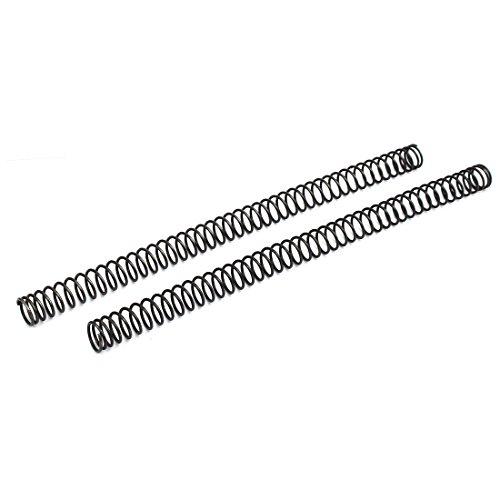 sourcing map 2stk. Kompression Druck Kabelfeder Mangan Stahl Schwarz 1,8mmx18mmx305mm