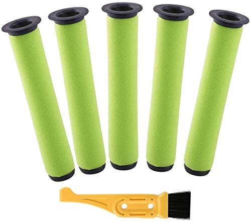 YBINGA Kit de 5 filtros de repuesto lavables para aspiradora Gtech AirRam Long MK2 K9 inalámbricos para aspiradora Gtech AirRam Long