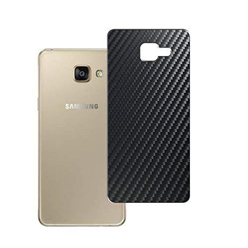 Vaxson 2 Unidades Protector de pantalla Posterior, compatible con Samsung Galaxy A7100 A7 2016 SM-A710x, Película Protectora Espalda Skin Cover - Fibra de Carbono Negro
