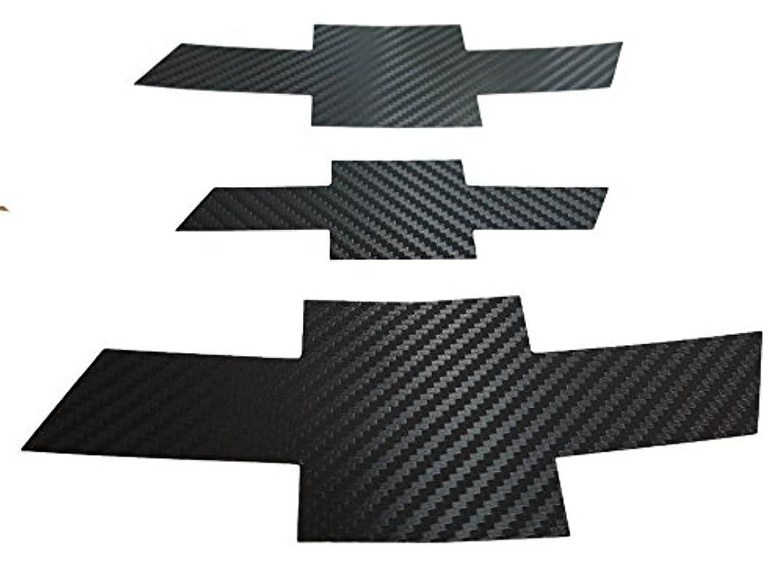 Grille Trunk Carbon Fiber Bowtie Emblem Wrap Kit 3PC & Free Gift Metal Sticker For 11-2014 Chevrolet Cruze