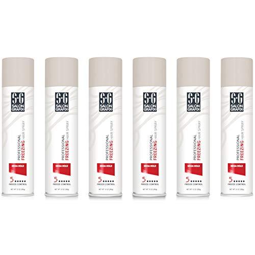 Salon Grafix Hairspray Freezing Mega Hold 10 Ounce (295ml) (6 Pack)