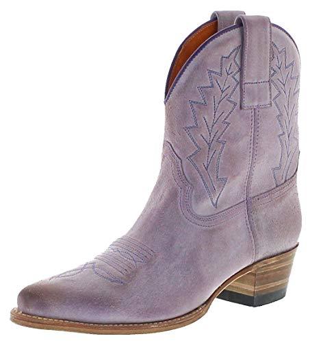 Sendra Boots Dames Cowboy laarzen 16367 lederen laarzen Western laarzen Purple