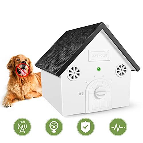 Petwudi Anti Barking Device, Ultrasonic Anti Barking, Sonic Bark Deterrents, Bark Control Device, Dog Bark Contrl Outdoor Birdhouse