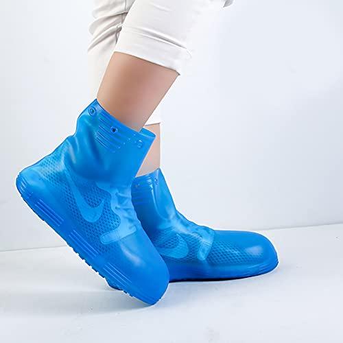 QYTS Fundas impermeables para zapatos de lluvia para mujer, reutilizables y plegables, resistentes a la lluvia, botas de tobillo antideslizantes y lavables