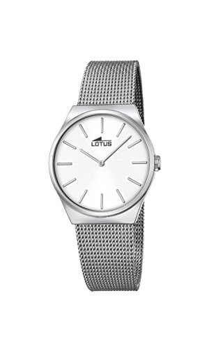 Lotus 18288/1 - Reloj analógico con Mecanismo de Cuarzo para Mujer (Esfera y Correa de Acero Inoxidable Plateadas)