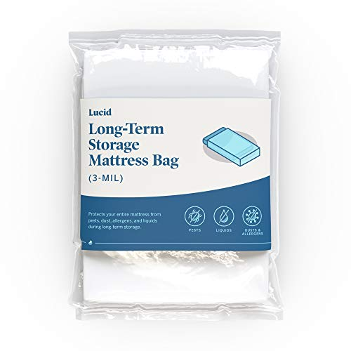 LUCID - Bolsa de colchón Resistente de 3 mil con Doble Cierre...
