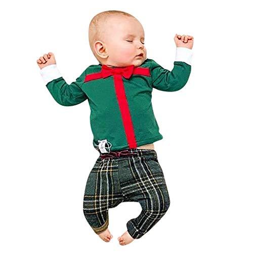 sunnymi Bebé Niñas Calcetín Navidad Regalo sobrepasado Pantalones a cuadros Equipos verde 6-12 Meses