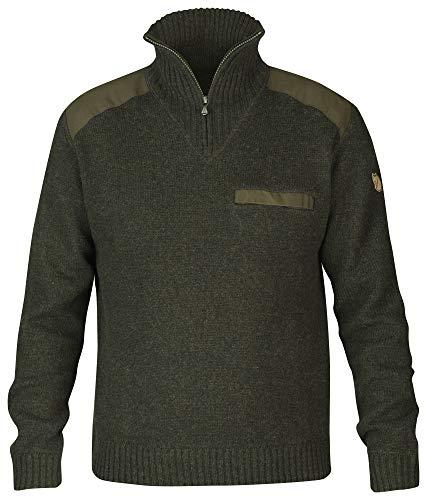 FJÄLLRÄVEN Herren Koster Sweatshirt, Grün (Dark Olive 633), Medium (Herstellergröße: M)