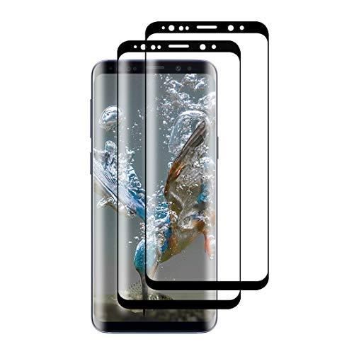 XSWO [2 Pezzi Vetro Temperato Galaxy S9 Plus, Protezione Schermo Samsung Galaxy S9 Plus [3D Copertura Completa] [Anti-Graffi] [Senza Bolle] [Facile Installazione] Pellicola Protettiva Vetro S9 Plus