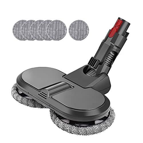 MoPei Accesorio de Cabeza de mopa eléctrica para aspiradora Dyson V7 V8 V10 V11, sin Recipiente de Agua