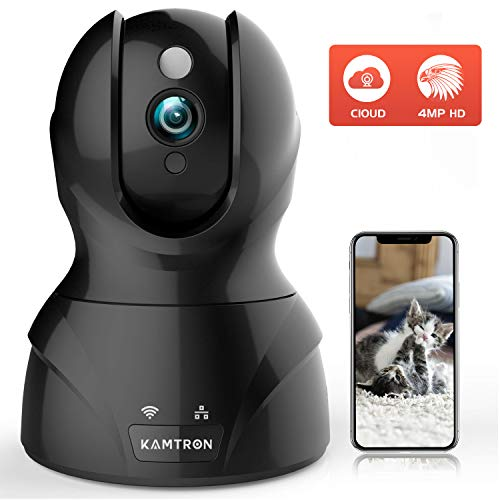 Security Cameras Pet Cameras for Homes - KMATRON 4MP HD WiFi Dog Camera Night Vision Pan/Tilt/Zoom Motion Detection with 2 Way Audio - Cloud Service Available