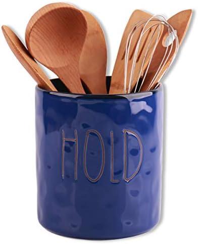 KVV Utensil Crocks 5 8 Inch Ceramics Kitchen Tool Caddy Single Holder for Stove Top Kitchen product image