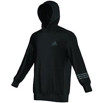 Adidas Dual Threat Mens Basketball Pullover L Black-Solid Grey