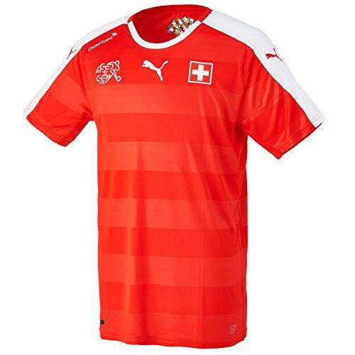 Puma Herren Trikot Suisse Home Replica Shirt, Red/White, L, 748740 01