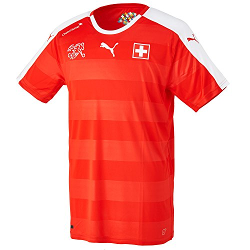 PUMA Herren Trikot Suisse Home Replica Shirt, Red/White, XL