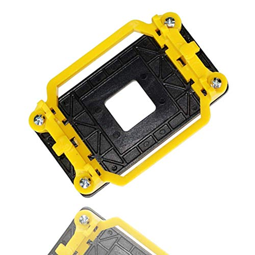 Plaque Arrière du Processeur pour AM3, Fond De Panier en Plastique pour Support De Ventilateur De Radiateur pour Carte Mère AMD AM2 / AM3 / FM1 / FM2 (Yellow)