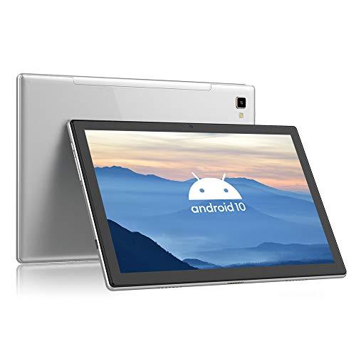 Blackview Tab 8 Tablet 10.1 Inch, Android 10, 64GB ROM, 4GB RAM, 13MP Rear Camera, Octa-Core Processor, 1920x1200 FHD IPS Screen, 6580mAh Large Battery, 4G LTE Dual SIM, Wi-Fi, GPS - Gray