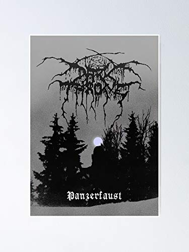 MCTEL Darkthrone - Panzerfaust Dark Throne Poster 12x16 Inch No Frame Board for Office Decor, Best Gift Dad Mom Grandmother and Your Friends