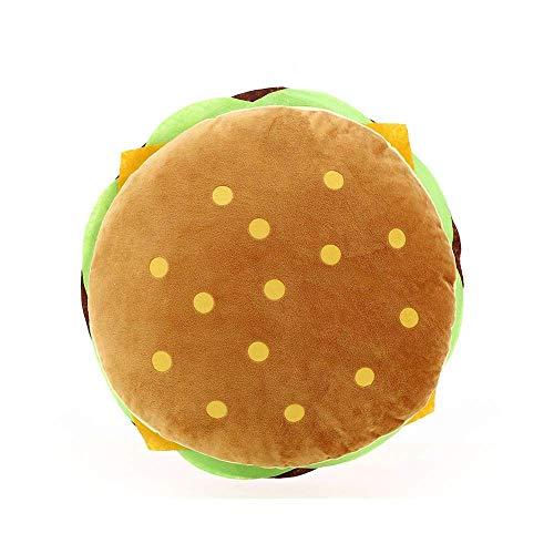 Esoar Plüsch Kissen Baumwolle flauschig gefüllt Simulation Hamburger Kissen Soft Burger Food Plüsch Spielzeug Geschenk für Kinder Halloween Dekoration