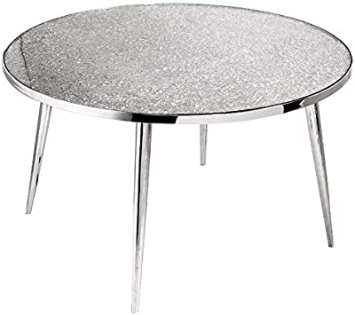 Uptown Club Coffee Table, Silver