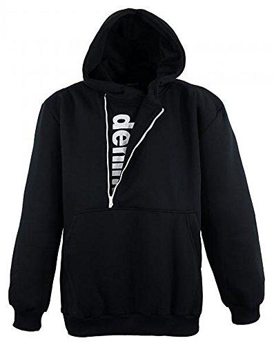 Übergrössen !!! Schickes Sweatshirt mit Kapuze und Zierreißverschluss LAVECCHIA in Schwarz LV 2141 6XL