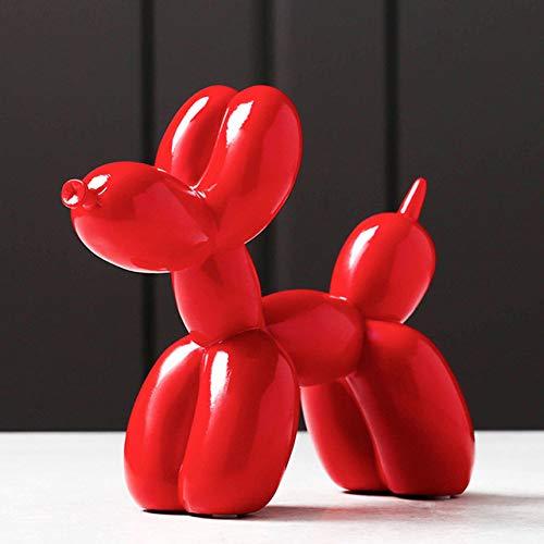 Estatua de perro Accesorios de decoración de mesa Decoración del hogar Escultura de animales Estatua de resina moderna Habitación de oficina Decoraciones de escritorio Arte, estatua 8,21x18x9cm