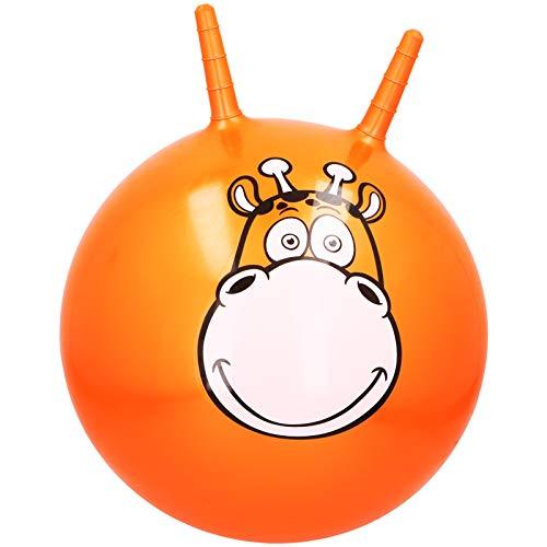 Kinder Hüpfball Tiere mit Motivwahl Springball mit Griffen Hüpftier Sprungball Hopperball (Giraffe)