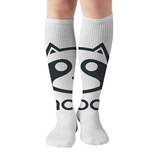 Simple Cool Racoon Head Design Signs Symbols Compression Socks Women & Men - Best For Running,Medical,Athletic Sports,Flight Travel, Pregnancy,19.68 Inch