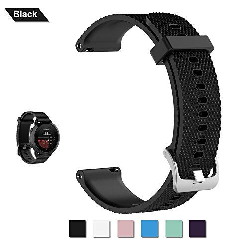 Bemodst Horlogeband voor SUUNTO 3 Fitness Smartwatch, Vervanging Accessoire Polsband Zachte Siliconen Band Klassieke Sport Band Verstelbare Armband Riem voor Mannen Vrouwen - Groot Klein formaat