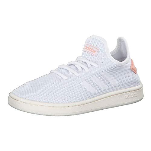 adidas Womens Court Adapt Sneaker, Footwear White/Footwear White/Dust Pink, 38 EU