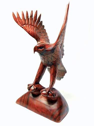 Adler Steinadler Holz Vogel Holzfigur Skulptur Handgeschnitzt Höhe 30cm